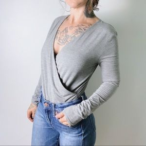 J. CREW Wrap Bodysuit